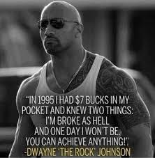 Dwayne (The Rock) Jahnson ~ Testimonial