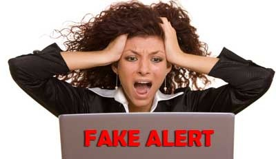 Fake Alert Frusterated