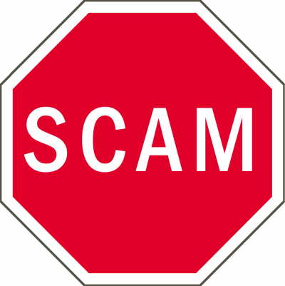 scam stop sign